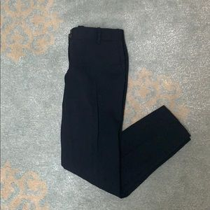 Theory Size 0 Black Textured Wool Pleated Pant